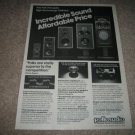 Polk Audio Real Time Array 12 Speakers AD from 1981