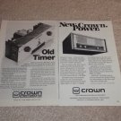 Crown Amplifier Ads, DC-300, SA2, Article,specs, 2 Ads