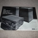 Harman Kardon Ad, 1968, HK50 Speakers,520 Receiver,2 pg