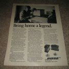 Original BOSE 901 Speakers Ad from 1976, RARE! Nice!!!