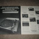 Sony PS-4300 Turntable Ad from 1977, 2 pages, nice!