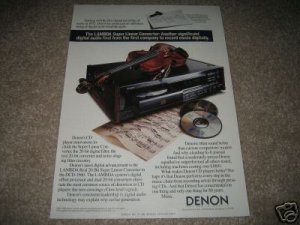Denon DCD-1560 CD player Ad from 1990,perfect!