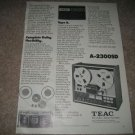 Teac A-2300SD Reel to Reel Ad from 1975 Dolby NR!