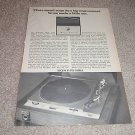 Sony PS-1800a Turntable Ad from 1968,RARE! Auto/Man