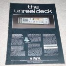 Aiwa Ad-6900u Cassette Ad, specs, article,color,1978