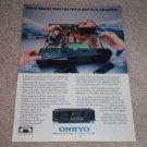 Onkyo TA-R500 Cassette Deck Ad, 1990, inside view!