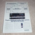 Sony STR-880 Receiver Ad, ST-7TV Tuner, 1986,specs