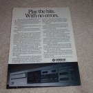Yamaha CD-3 Ad from 1985, CD Player Ad, article