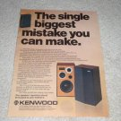Kenwood LS-407b Speaker Ad from 1978,color, article