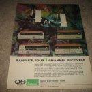 Sansui QUAD QRX-6500,5500,3500,3000 Receiver Ad 1974