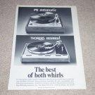 Thorens TD-125AB, PE-2040 Turntable Ad,1975,  Nice Ad!
