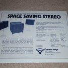 Cerwin Vega 320MT Sub/Sat Ad,1974,Specs,Article, RARE!