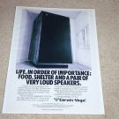 Cerwin Vega D-9 Speaker Ad, 1987, Article, Monster!
