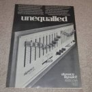 Dyanaco SE-10 Equalizer Ad, 1975, Article, Specs