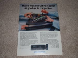 Onkyo TX-866 Receiver Ad, 1990, Article, Inside View