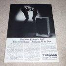 Klipsch KG4 SPeaker AD from 1985, Article, KG-4, RARE!