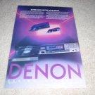 Denon DCD-1000,1100,1500 Ad from 1985,RARE!