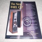 Thiel CS7 Speaker Ad from 1995, 1 page