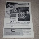 Roberts 990 Open Reel Ad,1961,Percy Faith,Doris Day