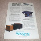 Velodyne ULD Series,HGS Series Sub Ad from 1992