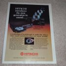 Hitachi DA-1000, DA-800 CD Player Ad, 1983, Article
