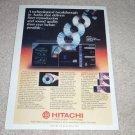 Hitachi DA-1000 CD Player Ad, 1983, Article, Vintage
