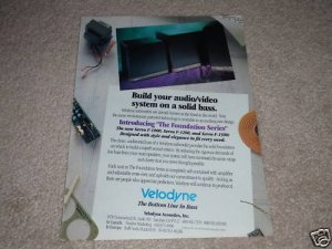 Velodyne F-1500,1200,1000 Foundation Series Ad, 1991