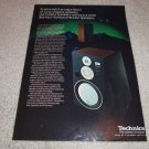 Technics Honeycomb Speakers Ad from 1983, RARE! SB-x700