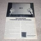Dahlquist DQ-10 Speaker Ad, 1975, Article, Rare one!
