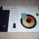 B&W 805 Speaker AD from 1995, 801, 2 pages