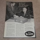 Scott Ad, 1956, Herman Scott in Ad,330 Tuner Ad, RARE!