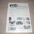 Altec 360 Amplifier,classic ad! Rare! from 1964, articl