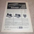 Altec Lansing 250 SU Pro Mixer Ad from 1961,article