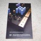 "VAC Tube Amplifier Ad, 1990, 6""x9"""
