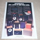 JBL Speaker Ad,1984,Entire Line,L212,L40, Beautiful Ad!