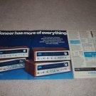 Pioneer SX-828,727626,525 Ad,4 pgs,specs,article, RARE!