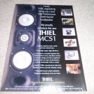 Thiel MCSi L/R/C speaker Ad from 1999, 1 page,