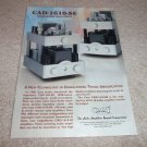 Cary TUBE Amp Ad from 2000,CAD-1610se, from 2000