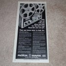 Revox Mark III Open Reel Ad,1967,mint,Article ,Features