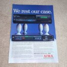 Aiwa Beta Hi-Fi Ad, 1984, Article,AV-50m,SV-50m,RARE!