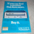 Scott 390r Receiver AD, 1978,specs, article,color
