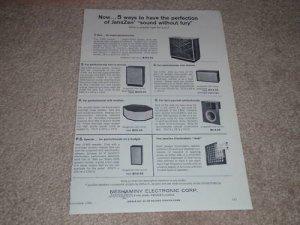 JansZen Z-900,Z-600,700,130,41 Speaker Ad, 1966, Rare!