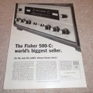 Fisher 500-c Receiver Ad from 1964, specs, NICE!