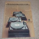 Dual Turntable Ad, 1975,1226,1228,1225,1229q, Article