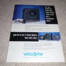 Velodyne F-1800r Subwoofer Ad from 1997, RARE!