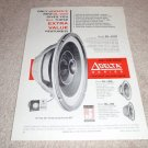 Jensen DL-220,120,80 raw speaker Ad from 1964