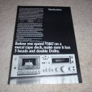 Technics RS-m63 Cassette Deck Ad from 1979