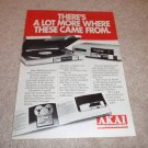 Akai Ap-d3 Turntable Ad, Open Reel, GX-747x from 1980