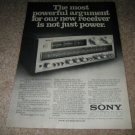 Sony STR-V7 Receiver Ad from 1979, 300 watts,fm tuner