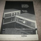 REVOX B760 Tuner, B750 Integrated Amp AD from 1978